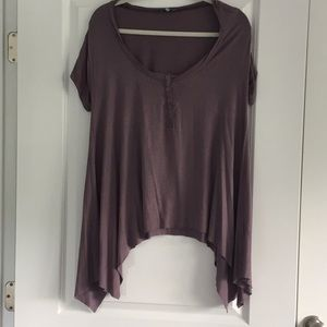 Dusty purple cotton T-shirt
